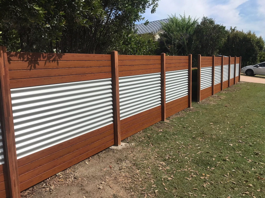 Corrugated Iron with Slats